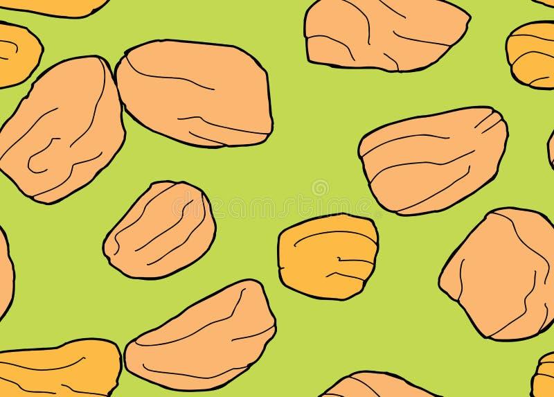 Złoty rodzynka wzór Nad zielenią ilustracja wektor