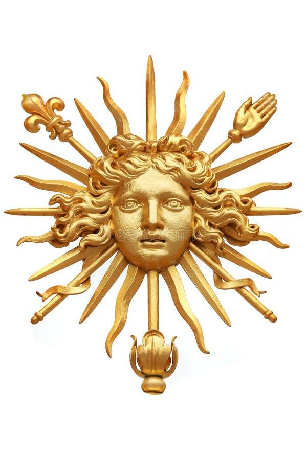 Złoty słońce fotografia stock