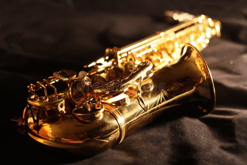 złoty saksofon fotografia royalty free