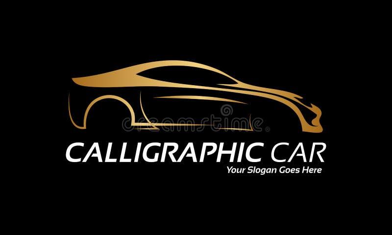 Złoty samochodowy logo royalty ilustracja