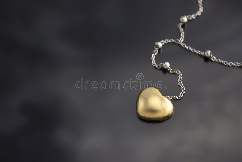 Złoty serce obraz stock