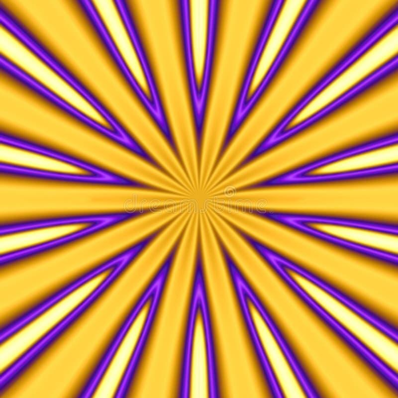 złoty starburst ilustracja wektor