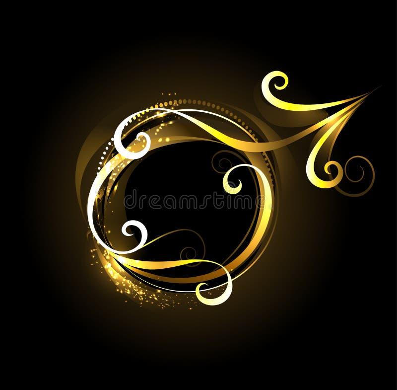 Złoty symbol Mars royalty ilustracja