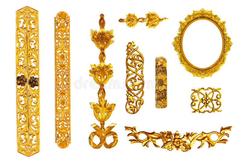 Złoty szczegół obrazy royalty free