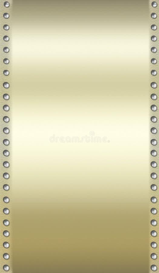 złoty tła metalicznego nabijający ćwiekami fotografia royalty free