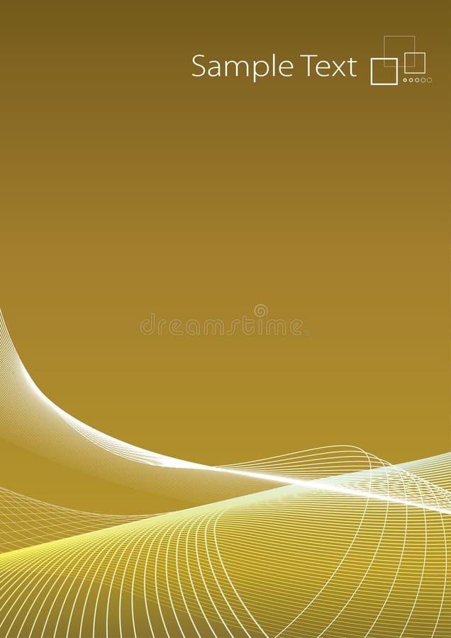złoty tła nowoczesnego slick ilustracja wektor