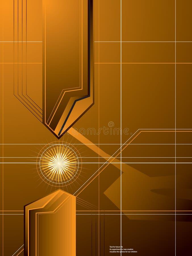 złoty tła strzała royalty ilustracja