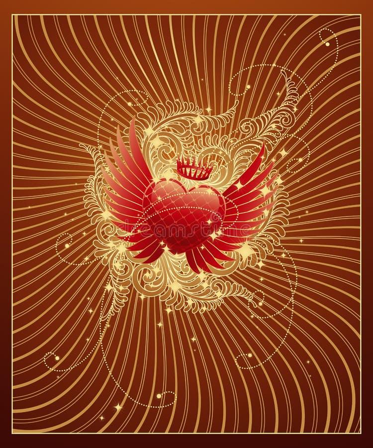 złoty tła walentynki royalty ilustracja