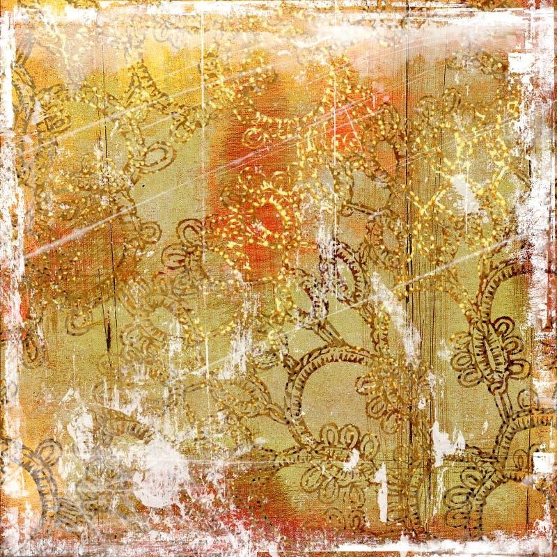 złoty tła zniszczony ilustracja wektor