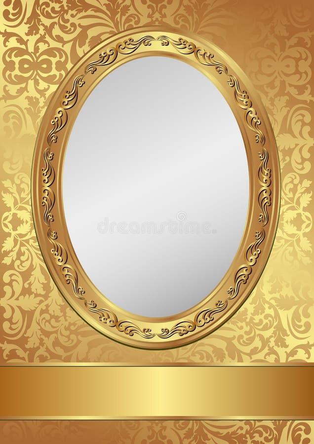 Złoty tło ilustracja wektor