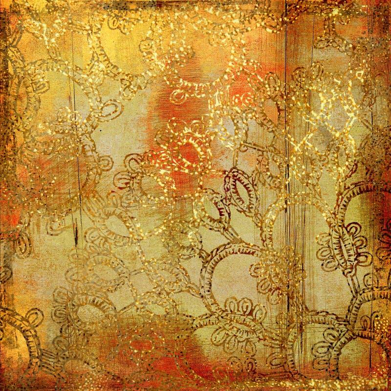 złoty tło ilustracji