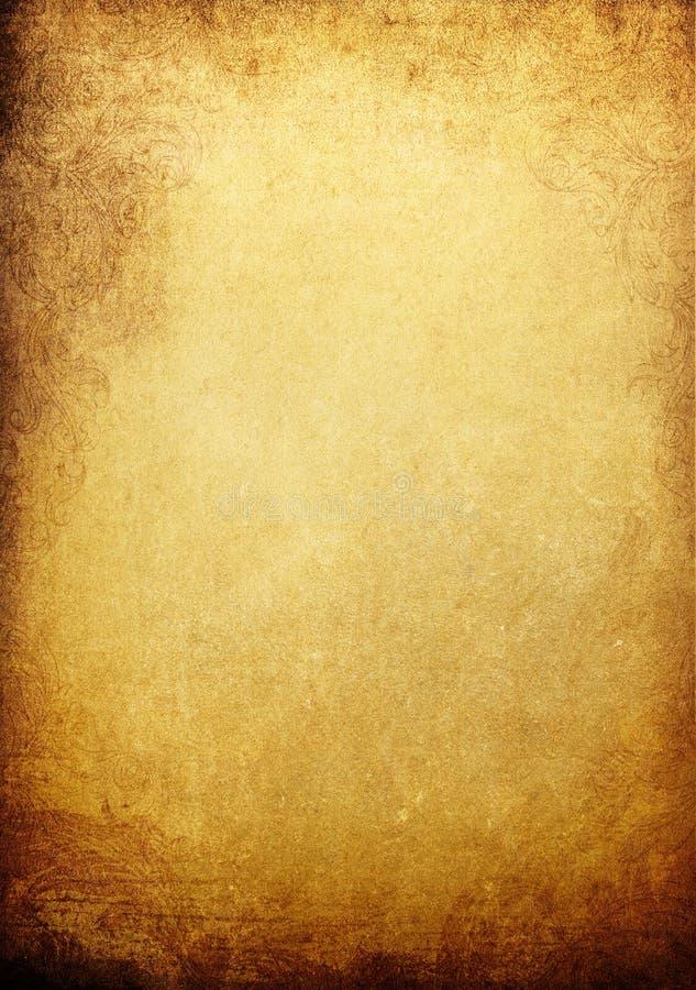 złoty tło rocznik royalty ilustracja