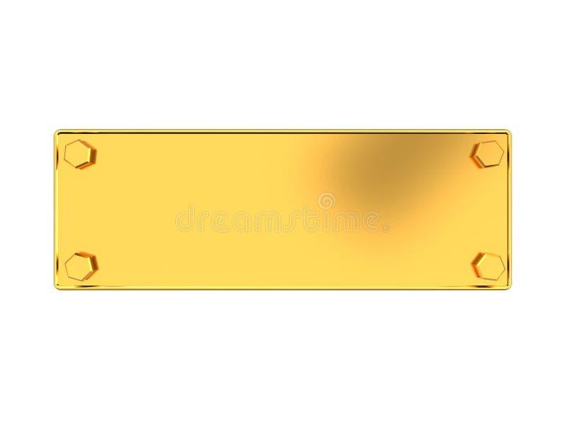 złoty talerz ilustracji