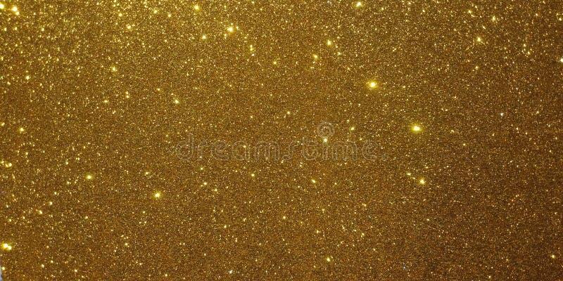 Złoty textured tło z błyskotliwość skutka tłem ilustracja wektor