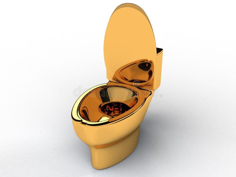 Złoty toaletowy puchar -4 royalty ilustracja