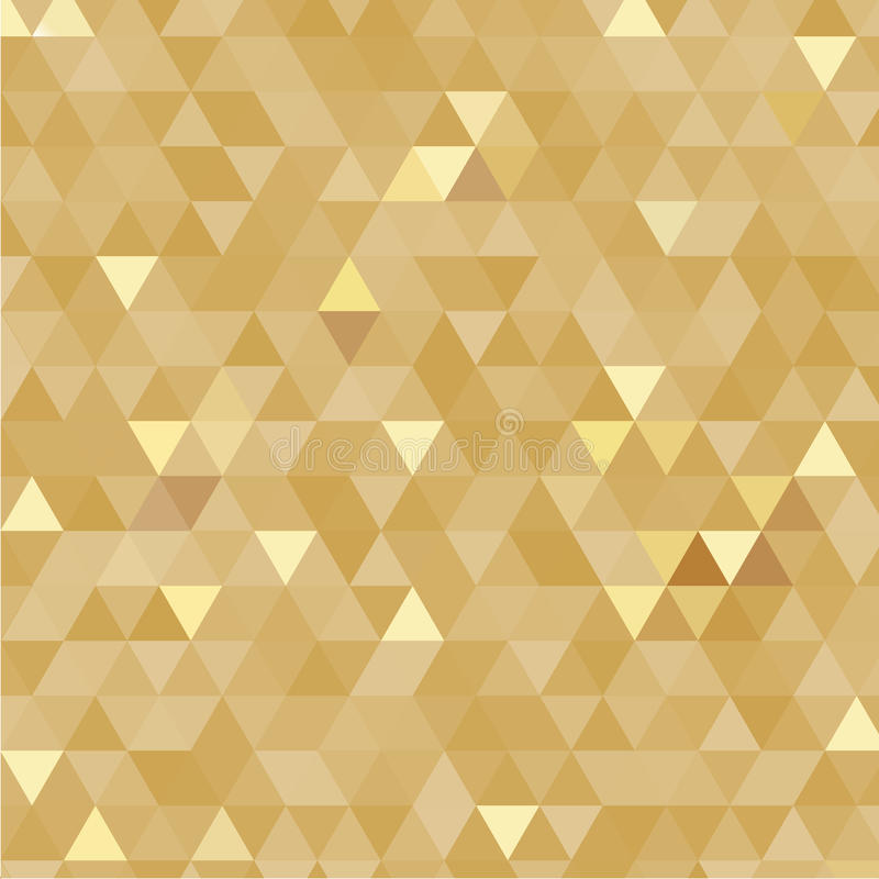 Złoty trójboka tło zdjęcia royalty free