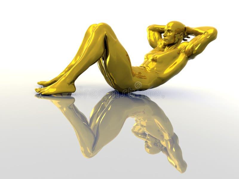 złoty trening ilustracja wektor