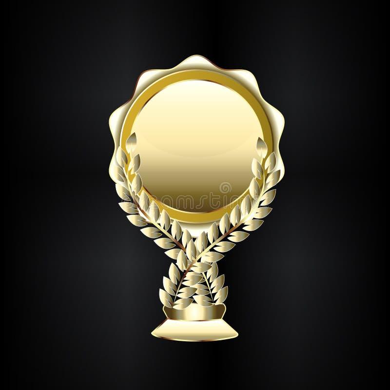Złoty trofeum etykietki ikony element dla twój projekta wektoru wizerunku ilustracja wektor