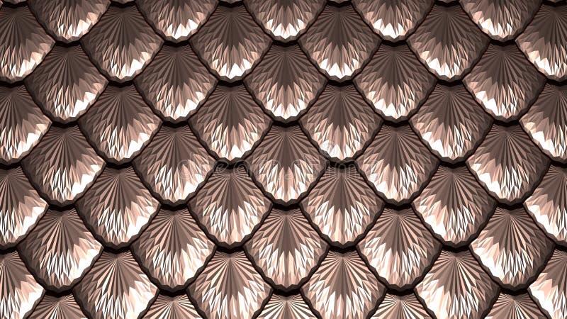 Złoty waży textured abstrakcjonistyczną tła 3D ilustrację ilustracja wektor