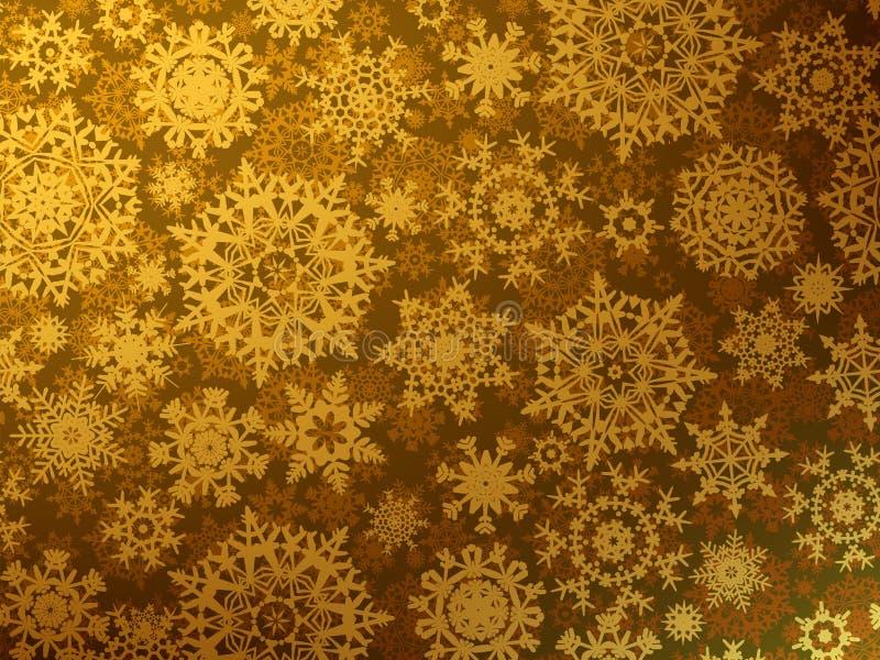 Złoty Wesoło Bożych Narodzeń kartka z pozdrowieniami. EPS 8 ilustracja wektor