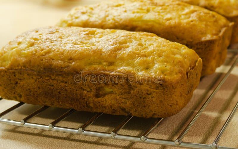 Złoty Zucchini chleb zdjęcia stock