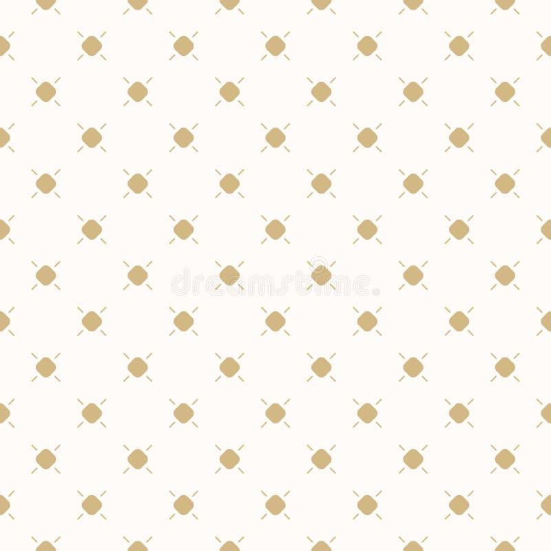 Złotych kropek wektorowy bezszwowy wzór Subtelna złota i beżu polki kropki tekstura ilustracja wektor