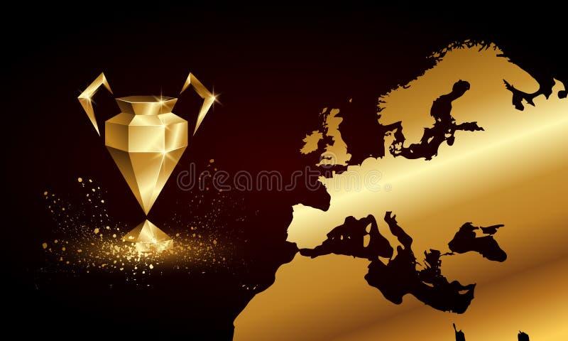 Złotych Niskich Poli- mistrzów filiżanki Ligowy sztandar ilustracji