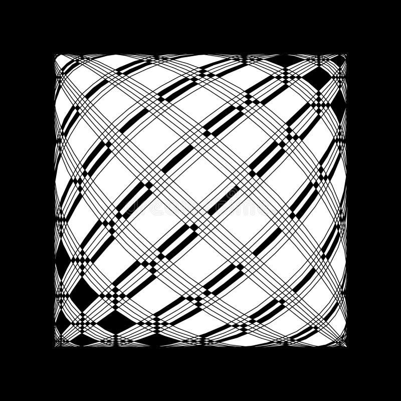 Złudny abstrakta wzór w czarny i biały ilustracji