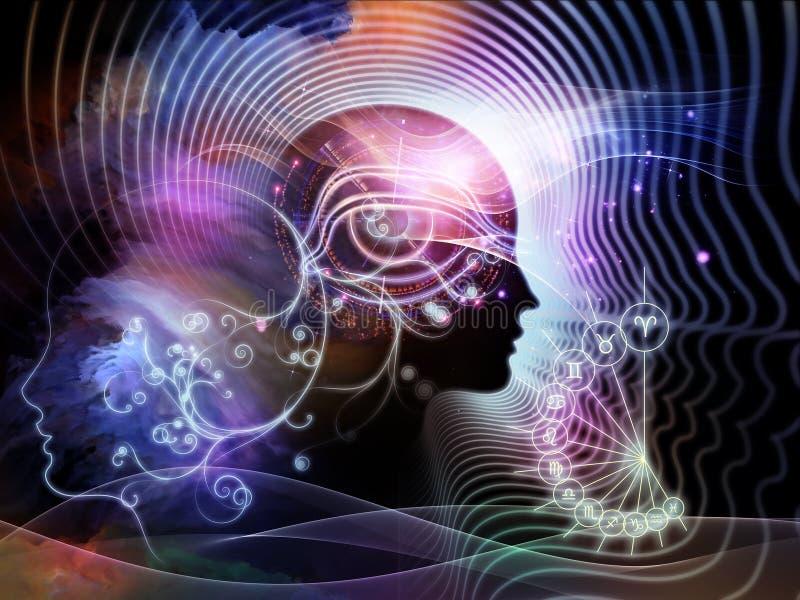 Złudzenia ludzki umysł ilustracja wektor