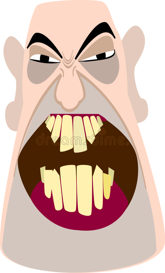 zły łysy człowiek ilustracja wektor