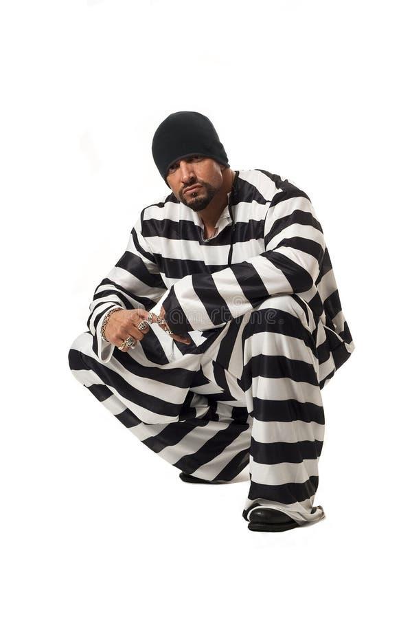 zły chłopiec więzień zdjęcie royalty free