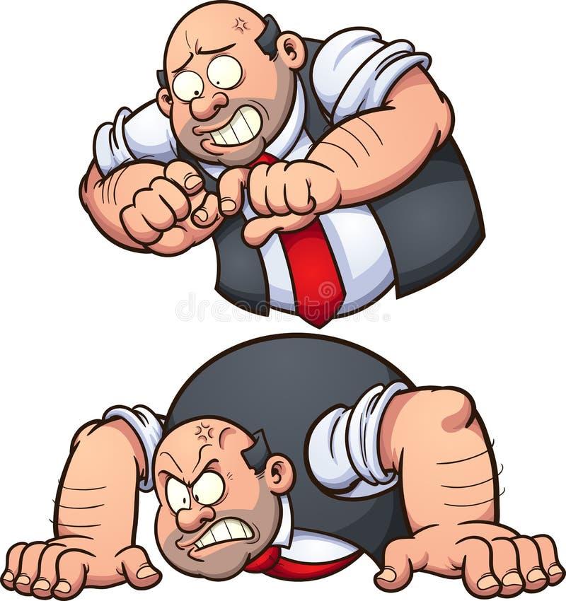 zły człowiek ilustracja wektor