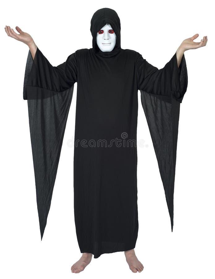 Zły demon, diabeł, czarownik, czarnoksiężnik, magik Odizolowywający obraz stock