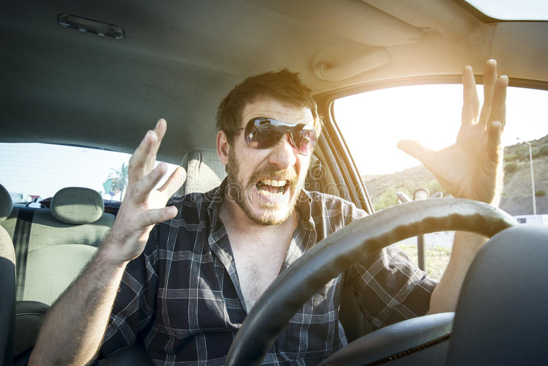 zły kierowca obrazy stock