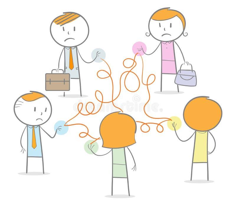 Zły networking ilustracja wektor