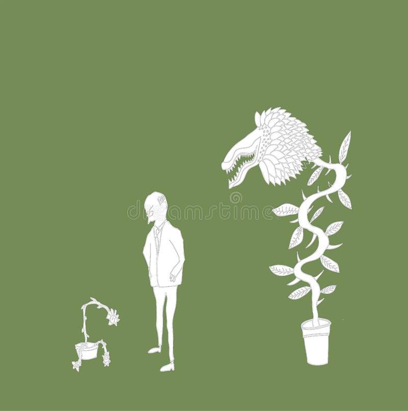 zły ogrodniczka ilustracja wektor