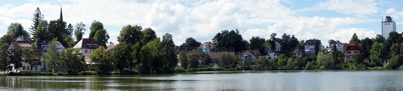 Zły Waldsee i jezioro zdjęcie stock