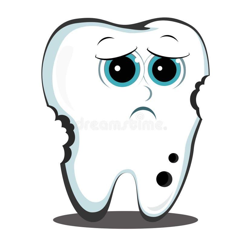 Zły ząb ilustracja wektor