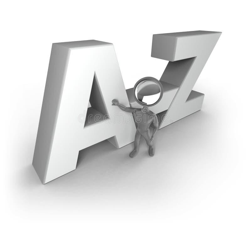 z的人 库存例证
