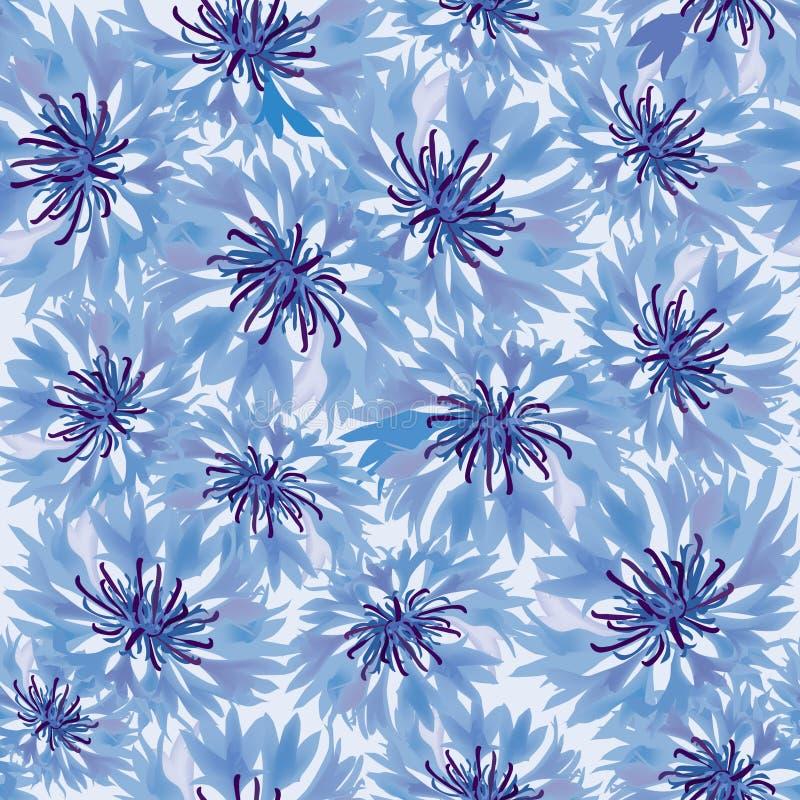 Z łąkowym kwiatem bezszwowy tło ilustracji