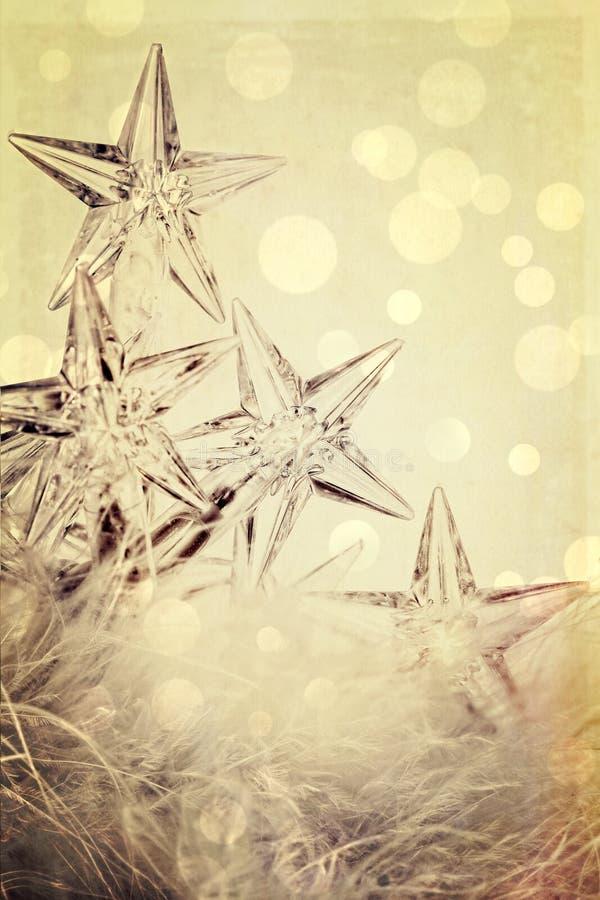 Z świątecznym tłem gwiazdowi wakacji światła obrazy royalty free