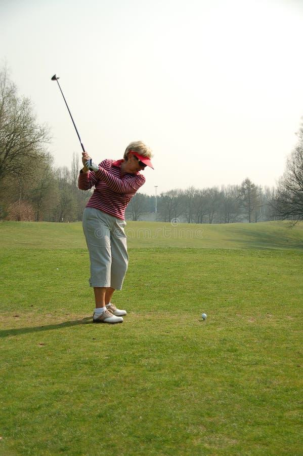z żeński golfista fotografia stock