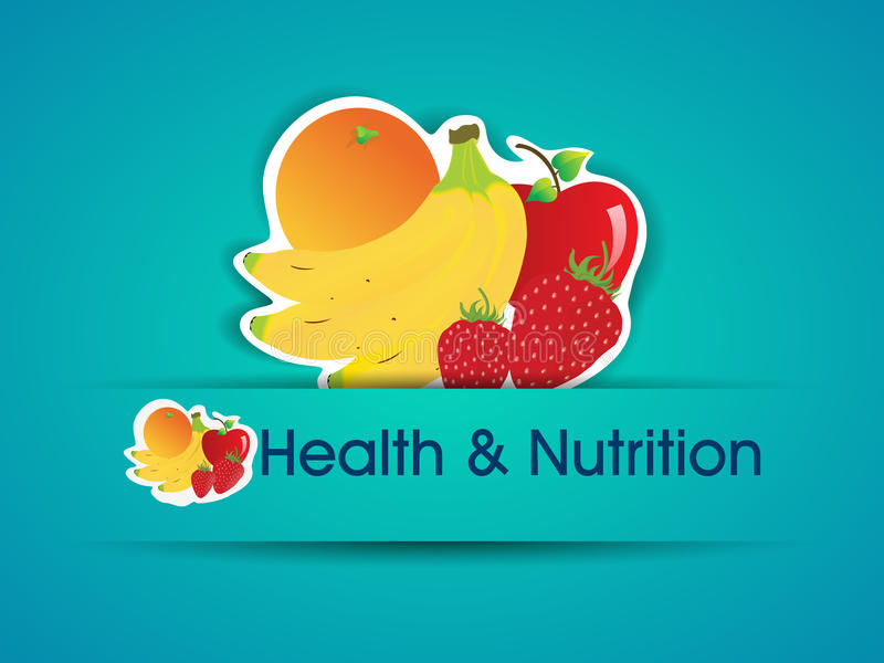 Z żywnością organiczną zdrowie i Odżywiania majcher. ilustracji