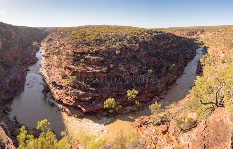 Z гнет панораму ущелья, национальный парк Kalbarri, западную Австралию стоковые фотографии rf