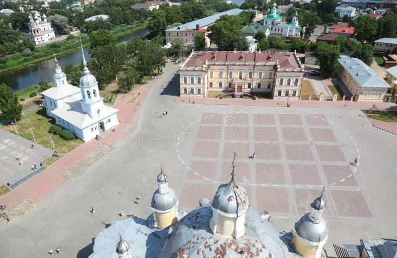 Z Aleksander kościół Kremlin kwadrat Nevsky zdjęcia stock