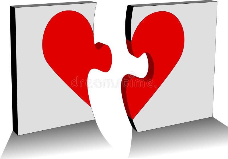 Download Złamane serce ilustracji. Obraz złożonej z odległość, nasadka - 47982