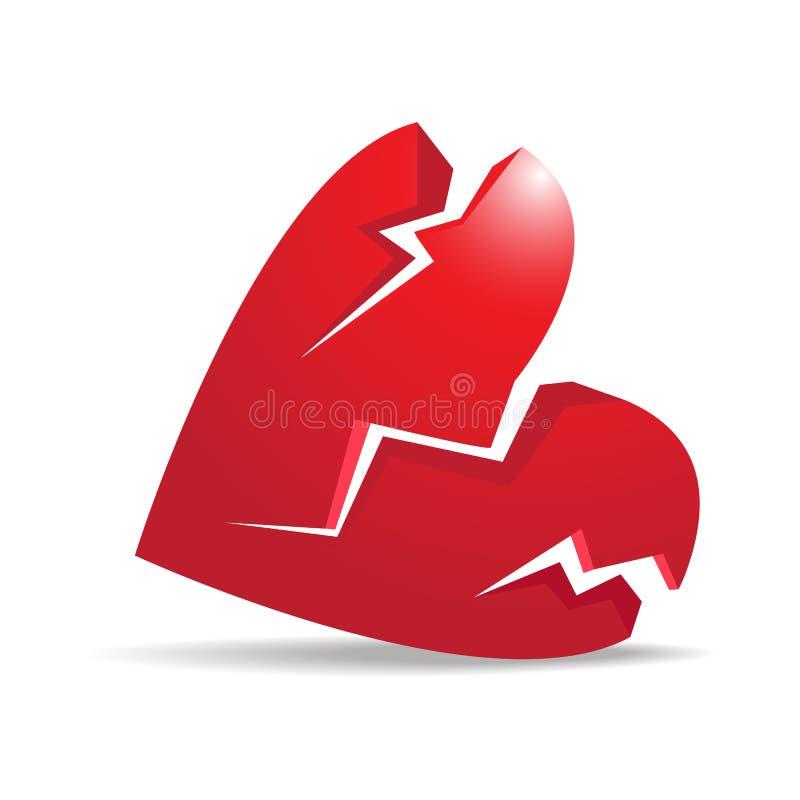 z?amane serce royalty ilustracja