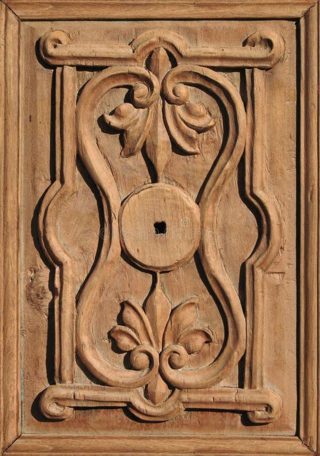 z antykami ozdobny det drzwi drewniane fotografia royalty free