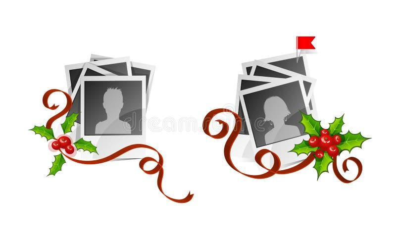 Z avatars ustalona Xmas fotografia ilustracja wektor