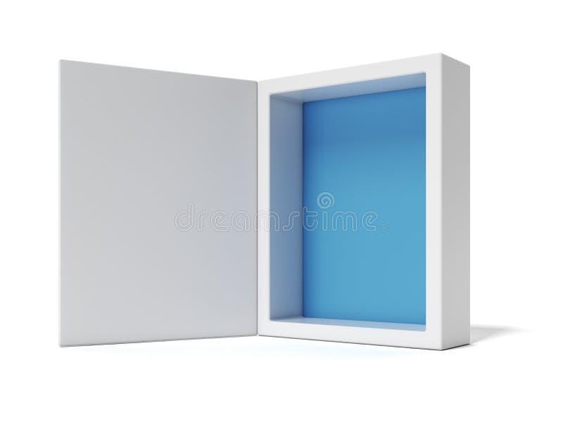 Z błękit rozpieczętowany biel rozpieczętowany Pudełko royalty ilustracja